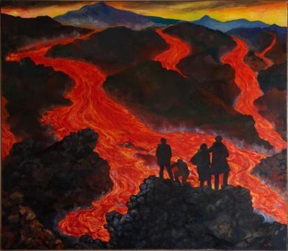 Renato Guttuso Eruzione sull'Etna