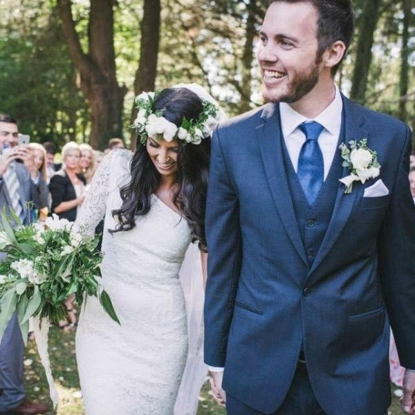 The Bride and Groom During The Recessional