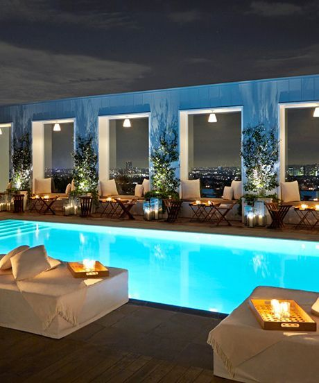 Los Angeles Rooftop Bars - Best Summer Bars | How many can you visit in one summer? #refinery29 http://www.refinery29.com/la-summer-rooftop-bars