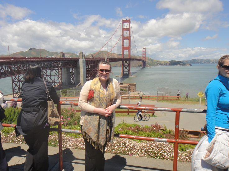 """""""Fresh"""" off the plane with cankles from a 14 hour flight in front of the Golden Gate Bridge in San Francisco. I was told we were there on a good day as sometimes you cant see the bridge from where I'm standing. California 2011"""