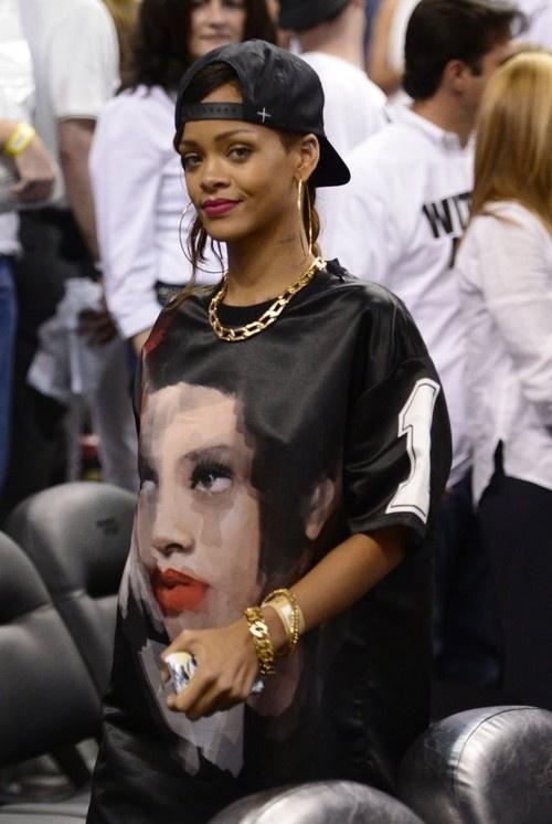 Rihanna at Miami Heat Game on April 21, 2013