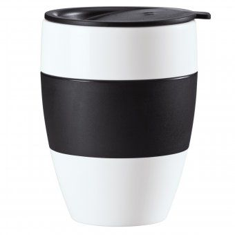 Koziol Thermobecher Aroma to go mit Deckel, solid schwarz, gesehen bei design3000, ca. 16 €