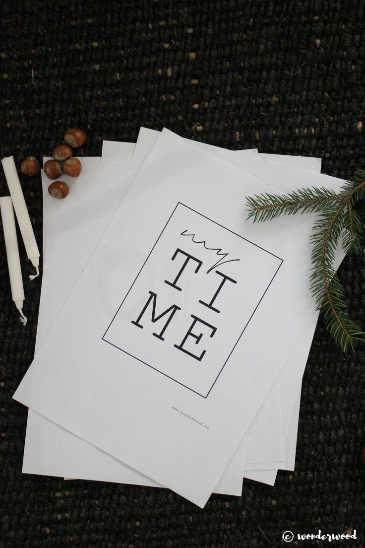 TIPS TIL HJEMMELAGDE JULEGAVER 9: FREEBIE Evighetskalender // HOMEMADE CHRISTMAS GIFT IDEA 9: FREEBIE Eternity Calendar