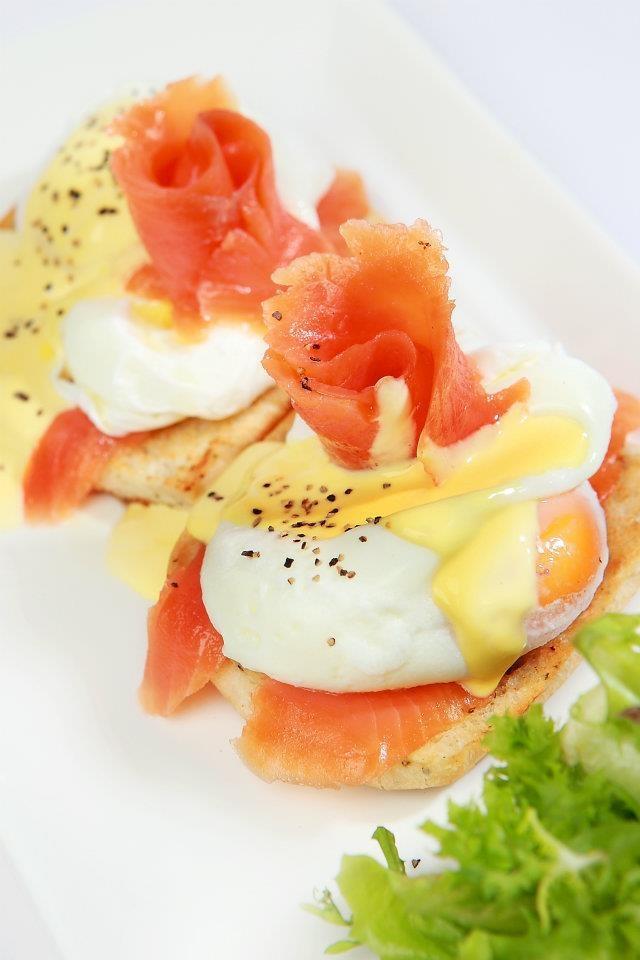 Salmon Egg Benedict's