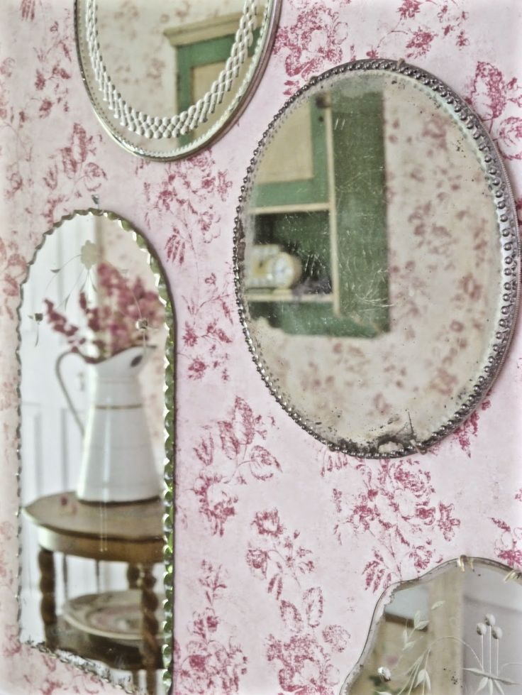 Chateau Chic - Reflections of our Home through gallery wall of mirrors