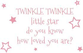 Inky Design Little Star. wall decal. removable wall decorations for girls. baby room