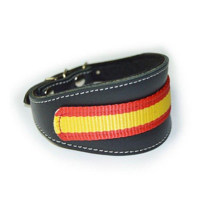 Collar para Whippet pequeño Bandera España