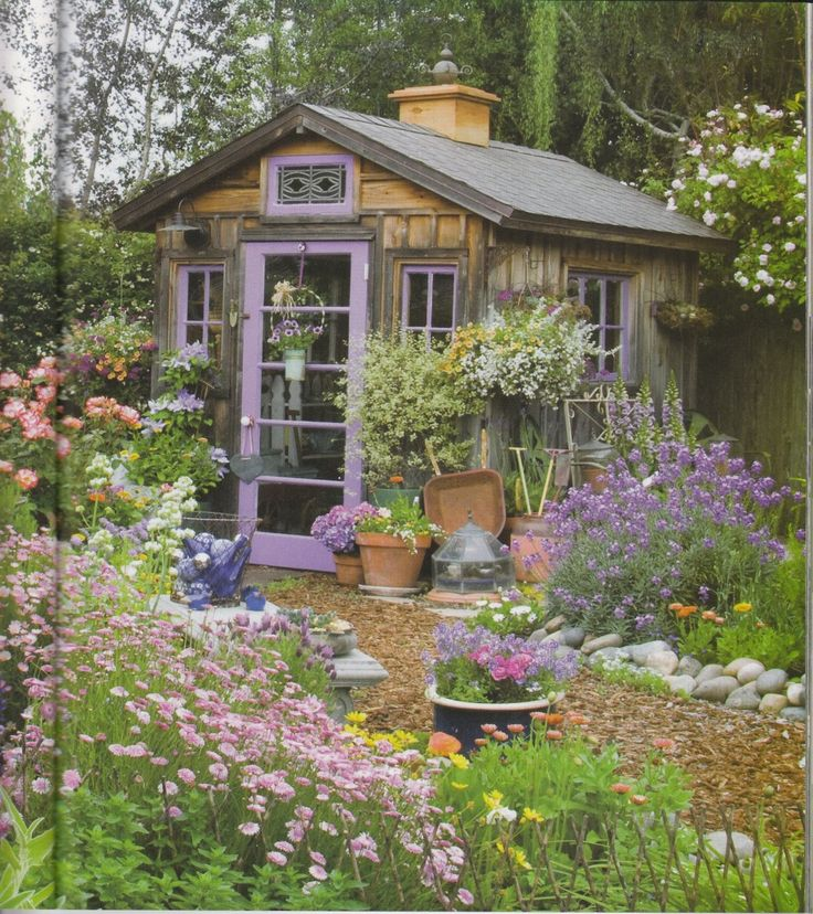 Superb French Country Gardens | Purple Garden Shed Country Gardens Spring 2009