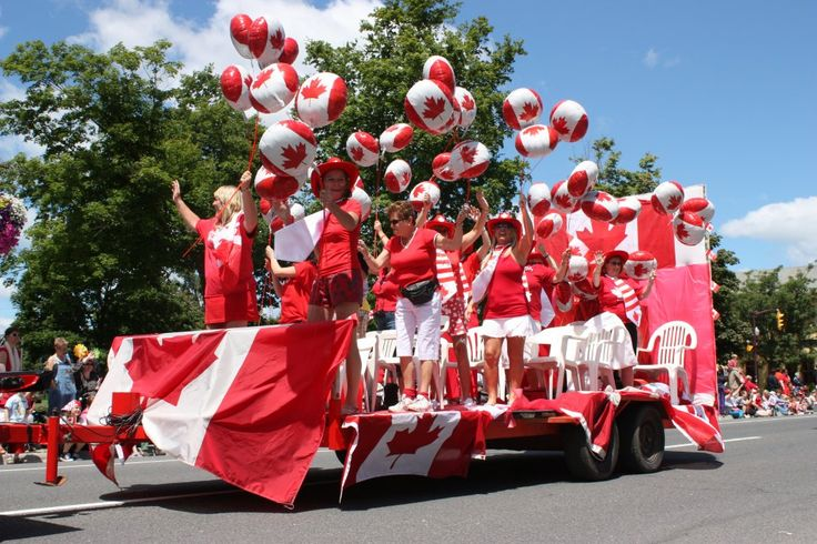 Super simple to execute. Get some friends. Dress in red and white, inflate balloons: Canada Day Parade