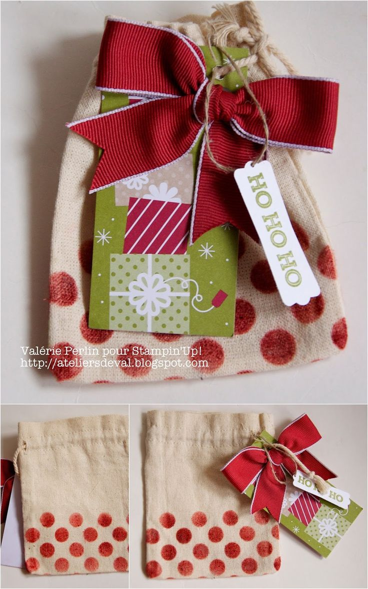 Les Ateliers de Val: Petit sac cadeau pour Noël