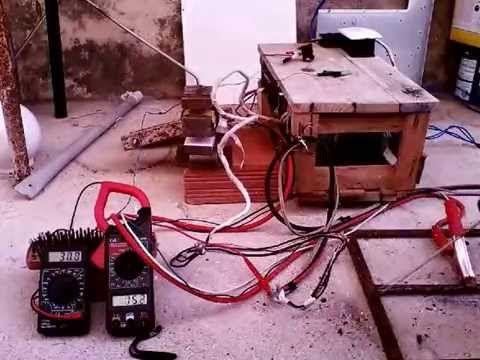 Maquina de solda caseira solda com 3 transformador de micro-ondas
