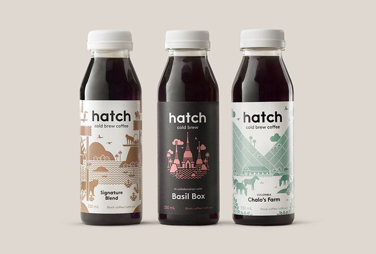 Picture of 3 designed by Tung for the project Hatch Cold Brew. Published on the Visual Journal in date 27 October 2016