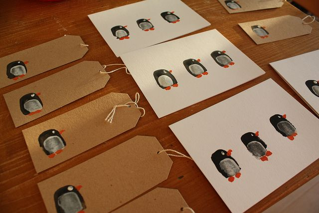 pinguin-fingerabdruck-karten