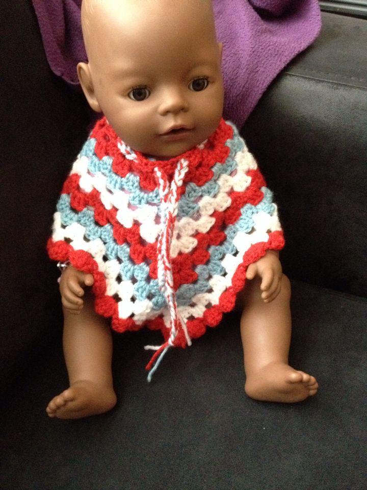 Babyborn poncho