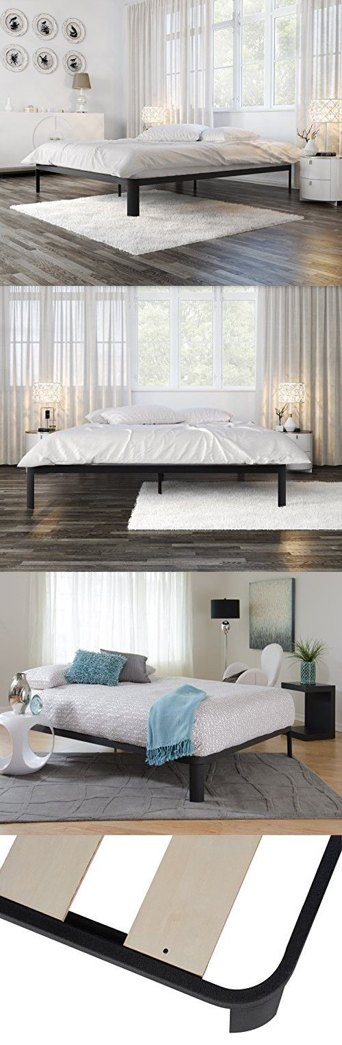 In Style Furnishings Minimalist Bed Frame Modern Lunar