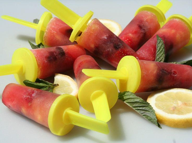 Waterijsjes van vers fruit
