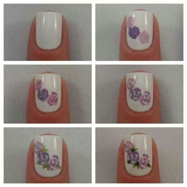 How to paint roses out of nail polish