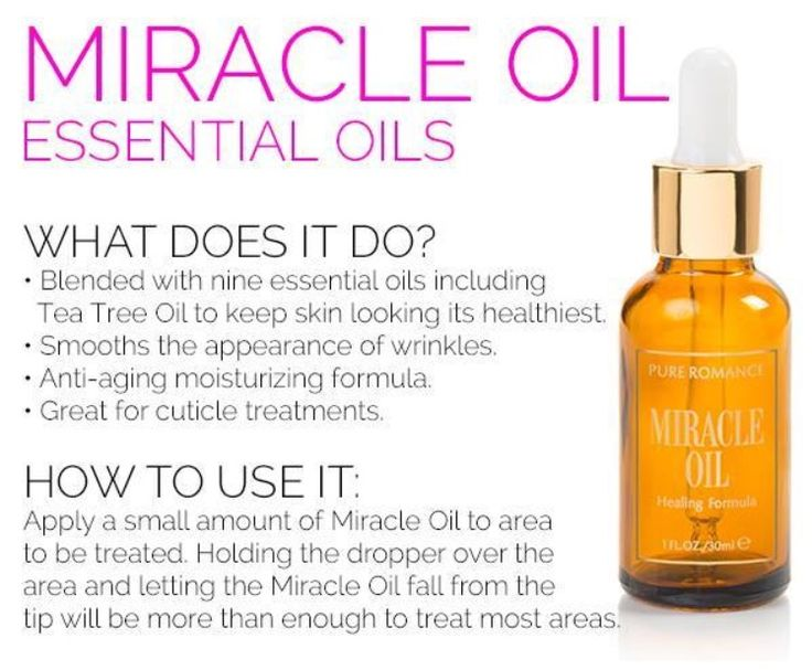 The best $20 you'll ever spend. Miracle Oil is an amazing product. The best of your medicine cabinet in a bottle. Relieves dry skin, helps heal scrapes and cuts, and even wards off wrinkles with vitamin E. Have a dry itchy scalp? Add a drop to your shampoo and it will sooth the itch and help repair the skin.  Burn yourself while cooking? Use this product to sooth the burn.