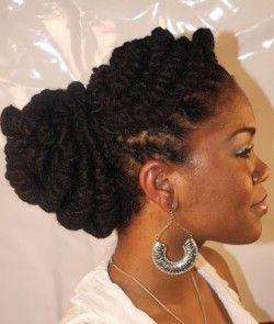 Black Women Natural Hairstyles Loc Bun