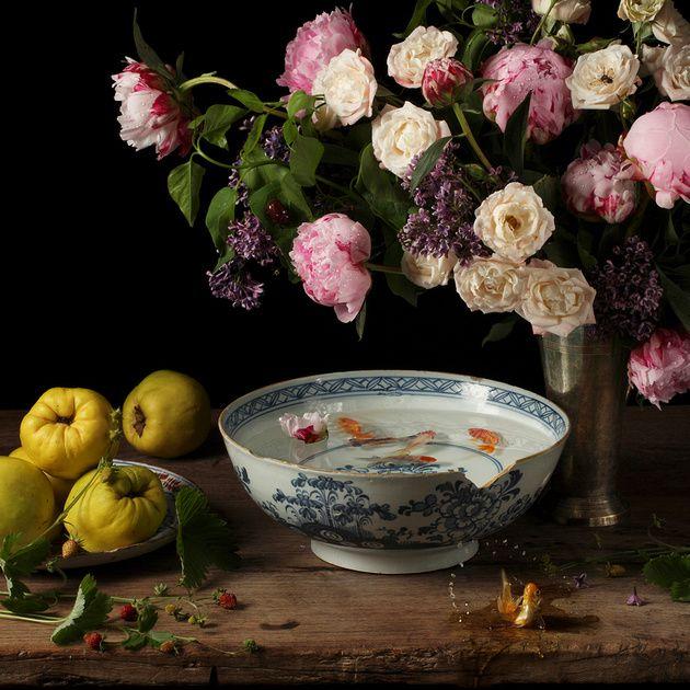 Brilliant: Paulette Tavormina's Still-Lifes of Food, Dutch Master Style—Flowers + Fish III