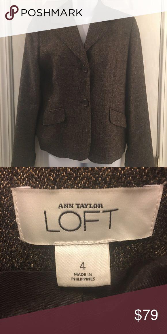 Anne Taylor Loft Blazer Anne Taylor Loft women's Blazer. Brown tweed. Gently used. Great condition. Looks close to brand new. Anne Taylor Loft Jackets & Coats Blazers