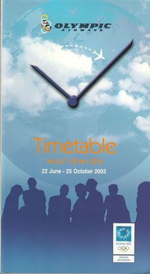 Olympic Airways system timetable 6/22/03