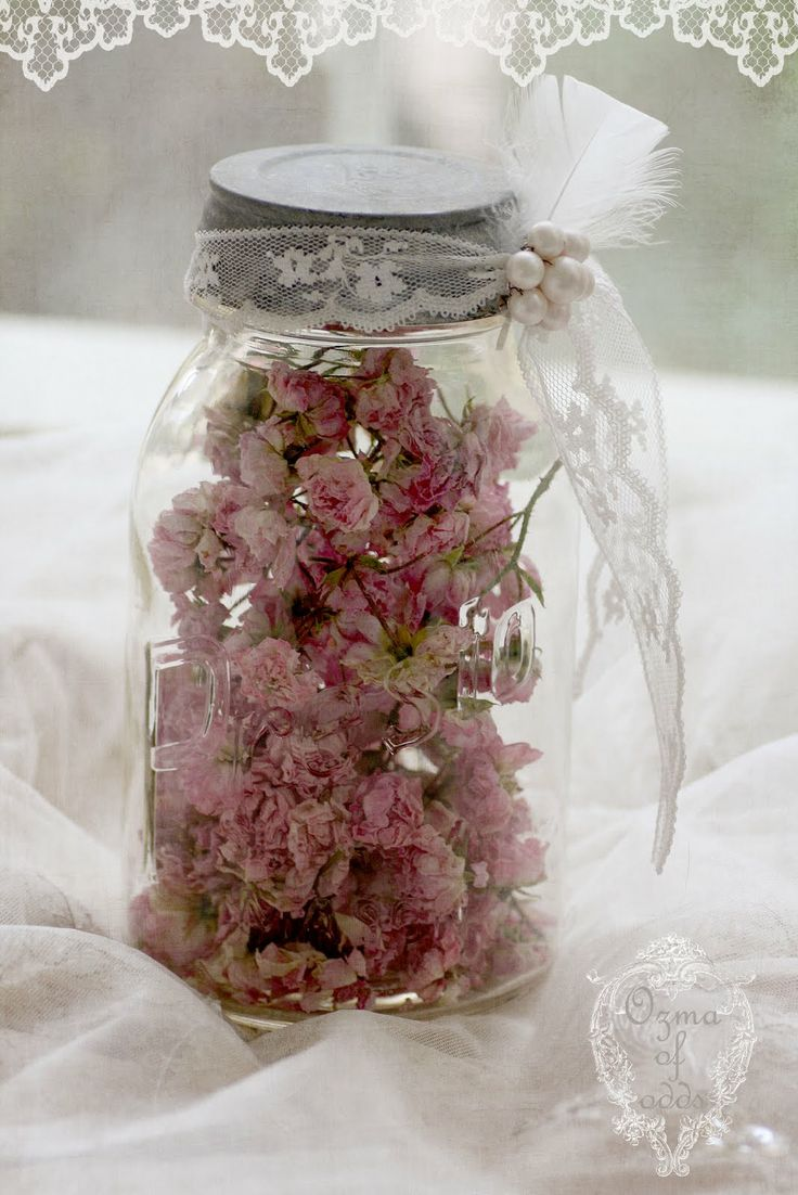 I LOVE TO SAVE MY ROSES, THIS WAY KEEPS THEM PRESERVED AND IT LOOKS PRETTY, Iroses in a jar. GiGi Baran's roses!!