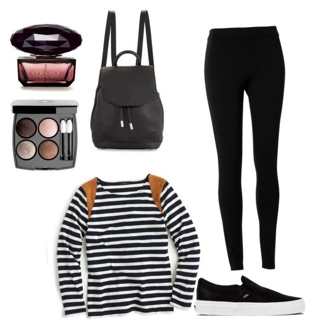 """""""black look for every day look with chanel palette"""" by dadacookie on Polyvore featuring Max Studio, J.Crew, rag & bone, Chanel and Vans"""