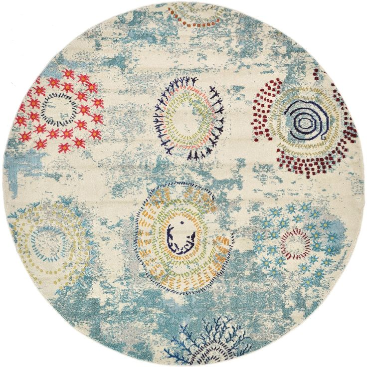 Unique Loom Modern Barcelona Round Area Rug