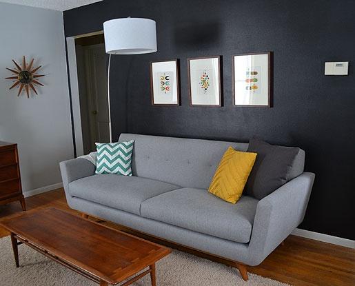 Mid Century Living Room: Thrive Sofa, Lane Acclaim Coffee Table