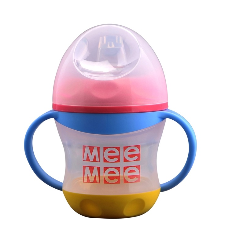 Mee Mee Cup/Mug Mix:-Non Spill Cup makes drinking easy and hassle-free for baby.Made of food grade material, complies with FDA.Protective cover seals completely, ensuring utmost hygiene.Supports changes in baby?s drinking patterns.