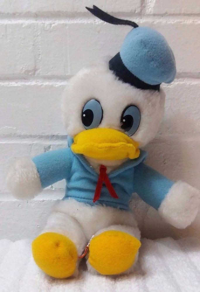 Vintage Donald Duck Walt Disney Stuffed Animal Plush Ground Nutshells      (A29) #Disney