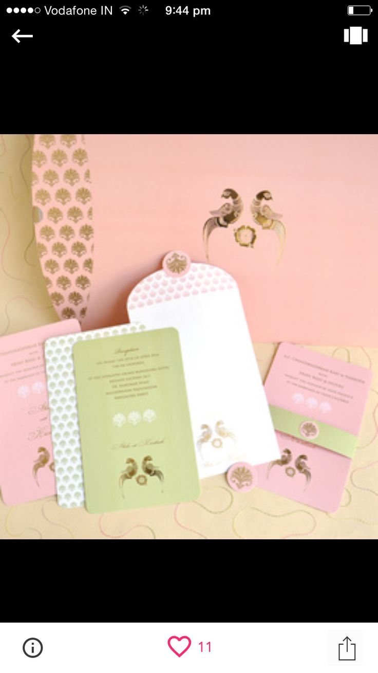 Looking for Pastel Inspired Wedding Card Browse
