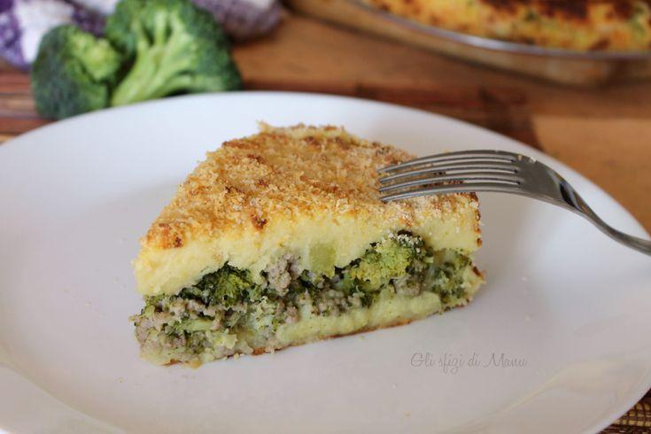 torta di broccoli patate e salsiccia