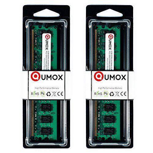 QUMOX 4Go(2x2Go) DDR2 800MHz PC2-6300 PC2-6400 DDR2 800 (240 PIN) DIMM Mémoire pour ordinateur de bureau #QUMOX #Go(xGo) #PIN) #DIMM #Mémoire #pour #ordinateur #bureau