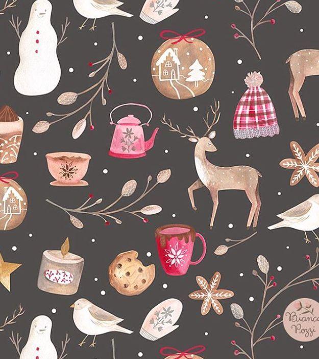Cheerful holiday illustrations.