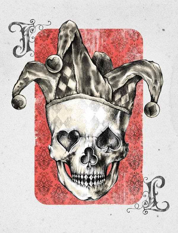 Joker by Alan Maia | more here: http://playingcardcollector.net/2014/12/02/joker-by-alan-maia/