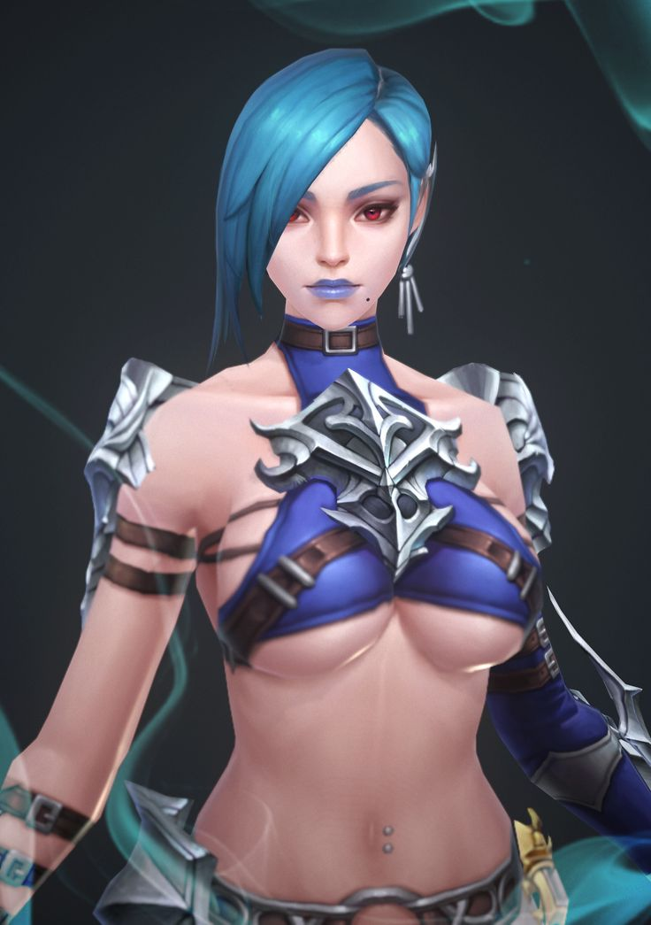 ArtStation - blue hair gjrl, Chang Jae Lee