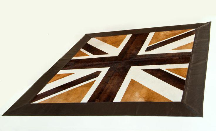 tapis union jack brun beige et blanc brown beige and white union jack rug hiderug. Black Bedroom Furniture Sets. Home Design Ideas