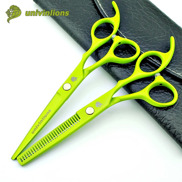 "6"" green hairdressing scissors manual hair clipper professional hair cutting shears cheap barber thinning scissors hair sissors"