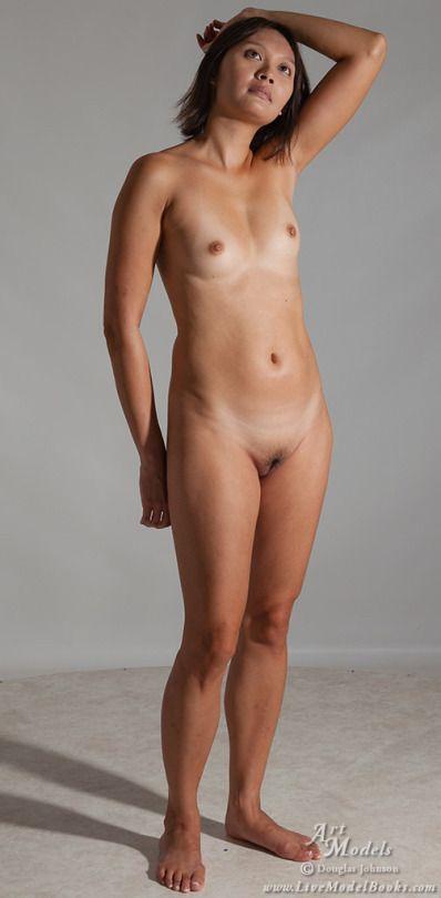 Nude female artist models