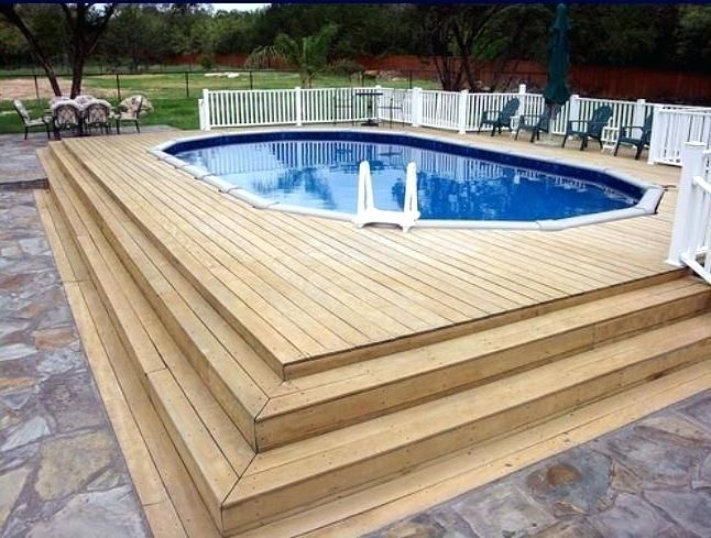 Above Ground Pool Deck Cost Per Square Foot Above Ground Pool Photos With  Decking Agp Go Awesome Design