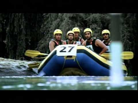 Rafting 45 Sec Hindi Whitewater commercial shot with Gravity in SA for Mountain Dew - India. AK47 driving the raft full of non-swimming Indian models.