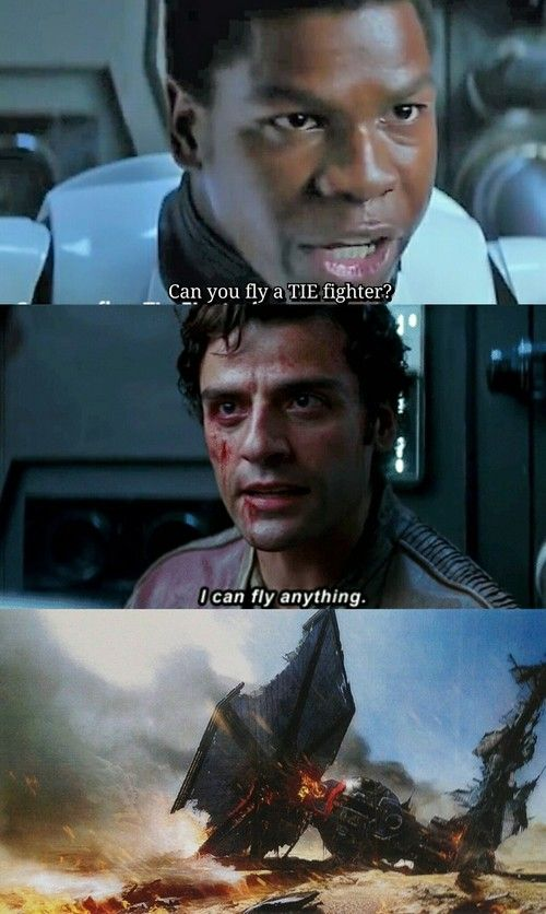 In Poe's defense, he had just been tortured a lot