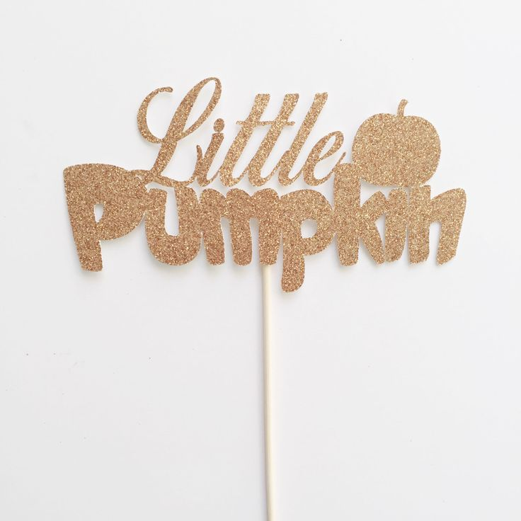Little Pumpkin- Little Pumpkin Party- Little Pumpkin Cake Topper- Pumpkin Party…