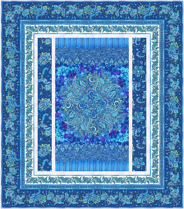 Royal Belize Beauty Free Quilt Pattern Personalize Your