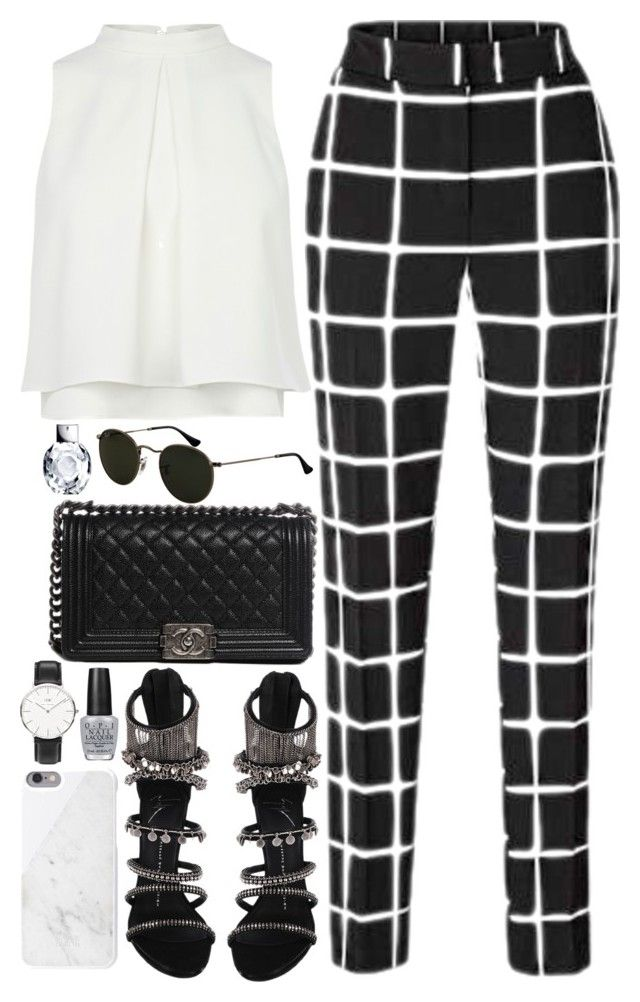 """#702"" by bella2015 ❤ liked on Polyvore featuring Giuseppe Zanotti, Native Union, Chanel, Daniel Wellington and OPI"