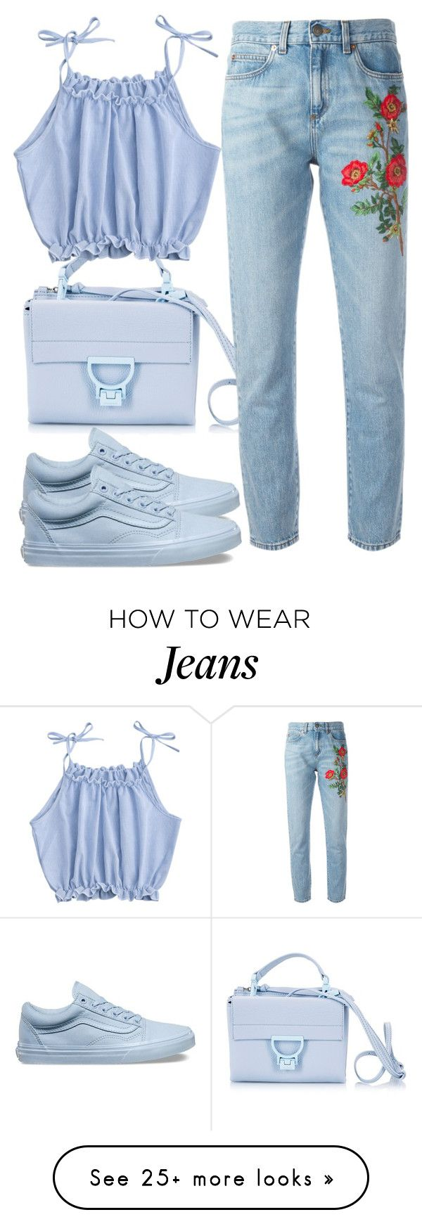 """My fav jeans"" by britishcandies on Polyvore featuring Coccinelle, Vans and Gucci"