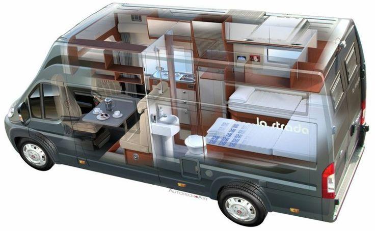 Modernes Wohnmobil aus dem Van #Wohnmobil #knaus #Einzelbetten #dreirad #Adr ……