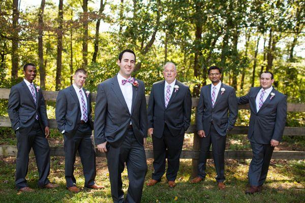 gray suit groomsmen   Courtney Dox #wedding